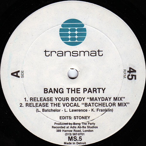 Bang the Party – Release your Body [MS005]